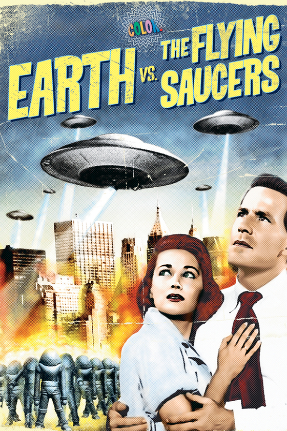 EARTH VS. THE FLYING SAUCERS (COLORIZED)